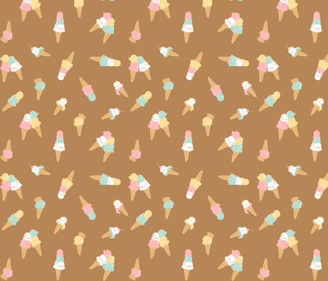 Choco & Vanilla fabric by katiavial on Spoonflower - custom fabric