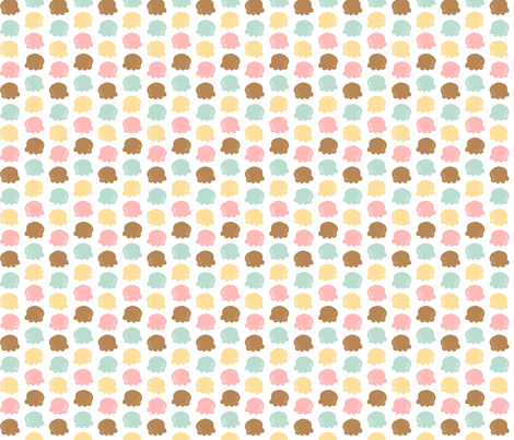 Choco & Vanilla fabric by katiavial on Spoonflower - custom fabric