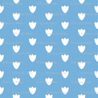 Light Blue Blossom Dots