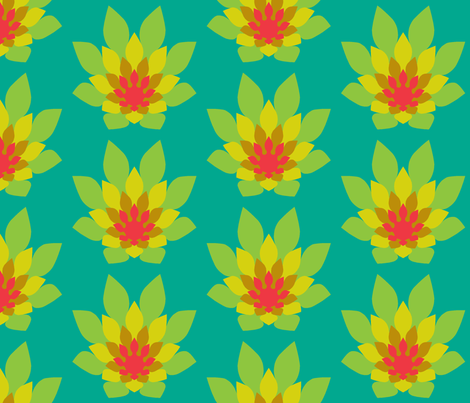 flame flower dense fabric by sef on Spoonflower - custom fabric