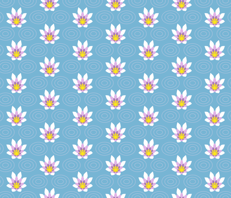 flame flower sparse fabric by sef on Spoonflower - custom fabric