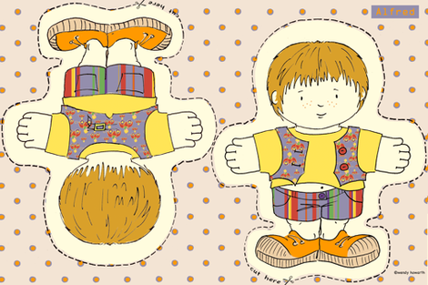 Alfred Doll fabric by woodledoo on Spoonflower - custom fabric