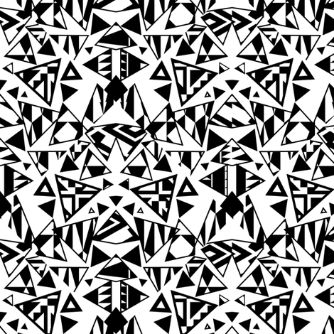 Black  fabric by kimsa on Spoonflower - custom fabric