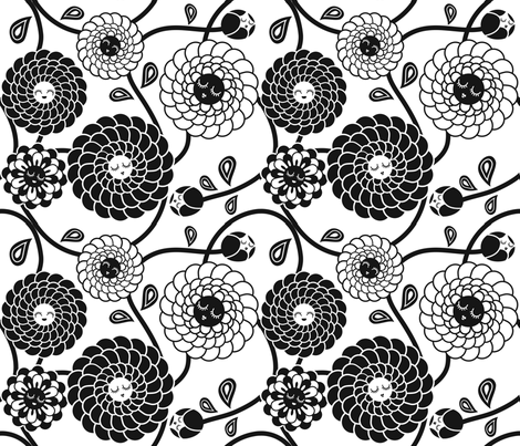 oriental flow fabric by irrimiri on Spoonflower - custom fabric