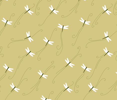 Flying dragonflies fabric by mariao on Spoonflower - custom fabric