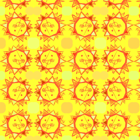 Sun Smile fabric by vidaliah on Spoonflower - custom fabric