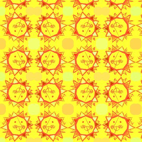 Sun Smile fabric by vidaliah on Spoonflower - custom fabric