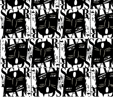ScaredyCatFabric fabric by suzanne_staud on Spoonflower - custom fabric