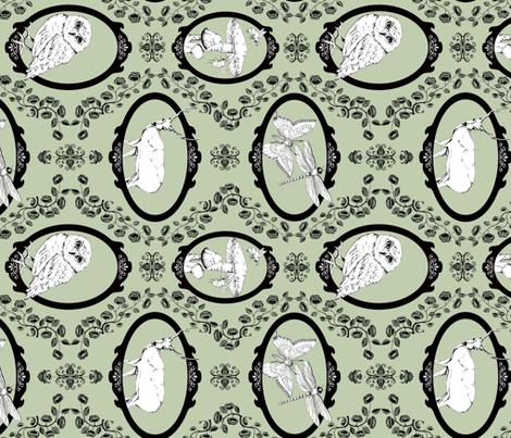 Woodland Enchantment - Sage (horizontal) fabric by uzumakijo on Spoonflower - custom fabric