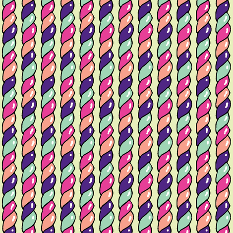 Twisted Candy (Purple) fabric by shirayukin on Spoonflower - custom fabric
