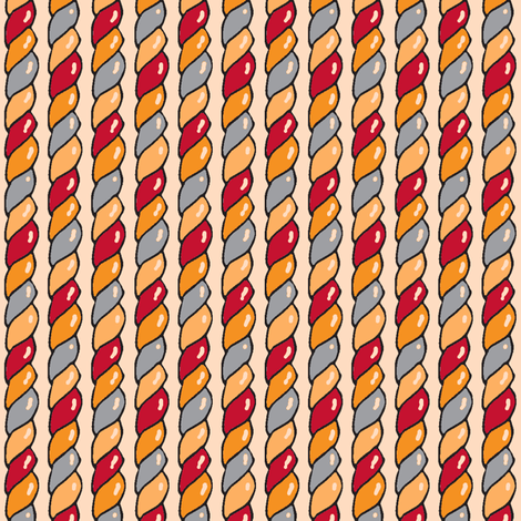 Twisted Candy (Red) fabric by shirayukin on Spoonflower - custom fabric