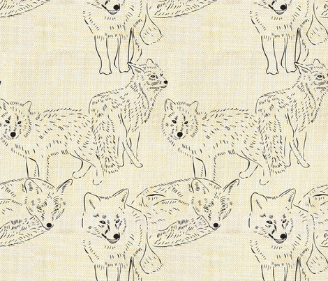 Foxes fabric by bryony on Spoonflower - custom fabric
