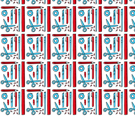 Stationery fabric by amywalters on Spoonflower - custom fabric