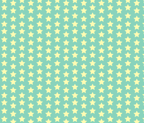 Billy_Goats_3_STAR_yellow fabric by fuzzyskyfabric on Spoonflower - custom fabric