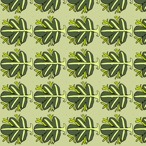 Green Fig Leaf fabric by vidaliah on Spoonflower - custom fabric