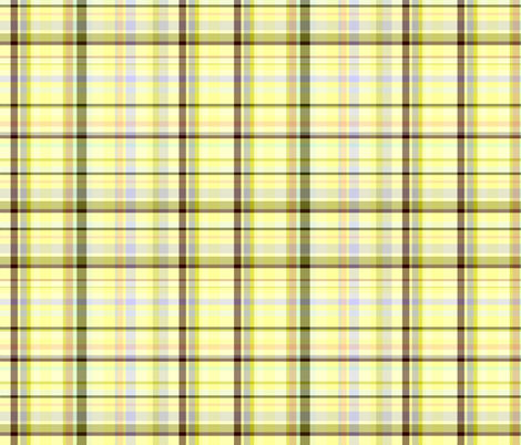 Yellow Flower Weaved Plaid fabric by mag-o on Spoonflower - custom fabric