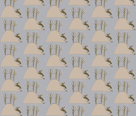 Bunny Hill fabric by vidaliah on Spoonflower - custom fabric
