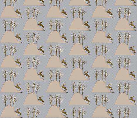 Bunny Hill fabric by vidaliah on Spoonflower - custom fabric
