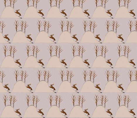 Pink Bunny Hill fabric by vidaliah on Spoonflower - custom fabric