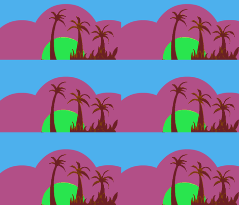 juju's tropical sunset fabric by mimi&me on Spoonflower - custom fabric