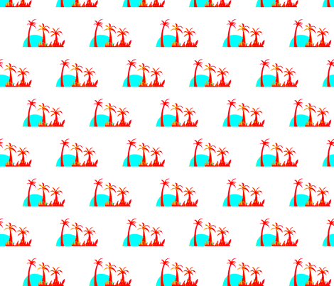 Breakfast at Palmy beach fabric by mimi&me on Spoonflower - custom fabric