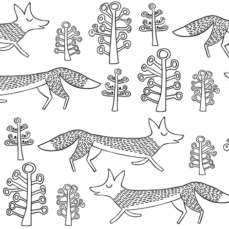 foxtrot fabric by endemic on Spoonflower - custom fabric