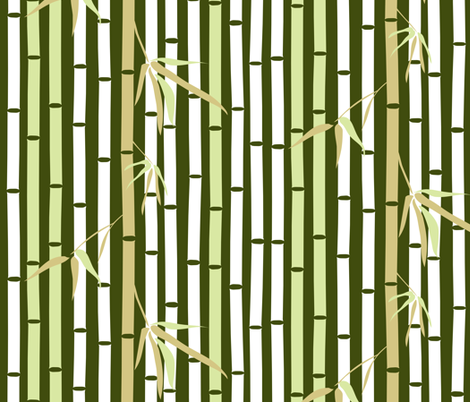 The Tale of the Bamboo Cutter (竹取物語)  fabric by mariao on Spoonflower - custom fabric