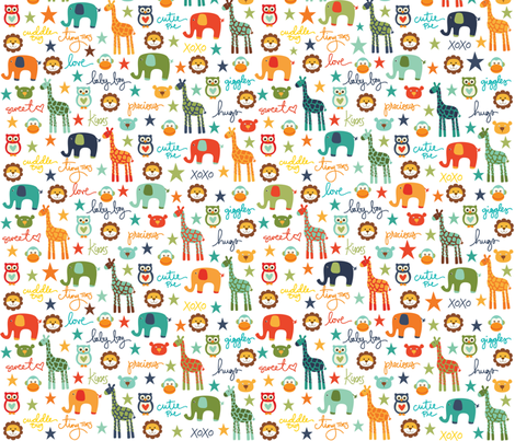 Baby_Boy_Animals fabric by creativitybycrystal on Spoonflower - custom fabric