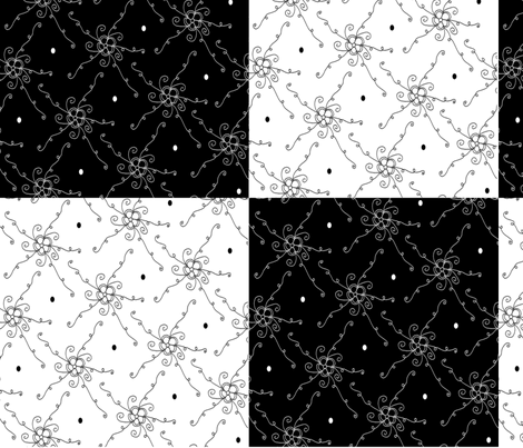 Black and white check fabric by home_designs on Spoonflower - custom fabric