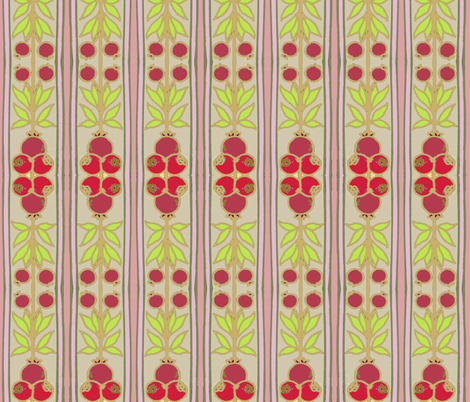 Pomegranate Stripe Pink fabric by vidaliah on Spoonflower - custom fabric