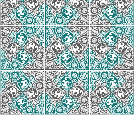 Celtic Puzzle Square fabric by foxvox on Spoonflower - custom fabric