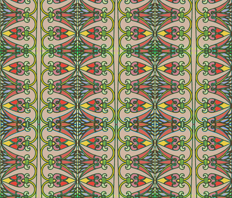 Lotus Stripe Pink fabric by vidaliah on Spoonflower - custom fabric