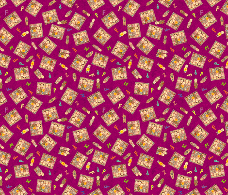 Shivers in the Fridge, red fabric by paul-ny on Spoonflower - custom fabric