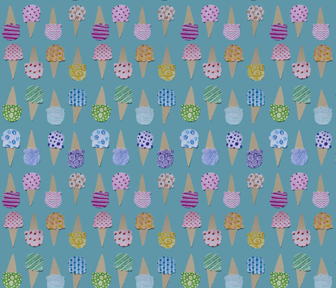 Sweet Pattern Ice Cream Cones fabric by purplesprinkles on Spoonflower - custom fabric