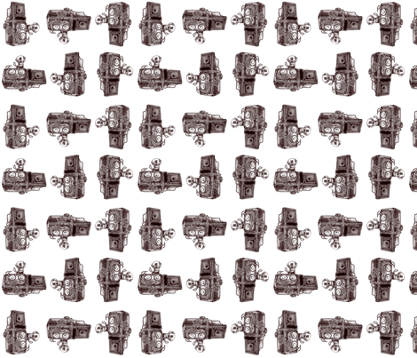 Vintage Cameras - White Background fabric by dorolimited on Spoonflower - custom fabric