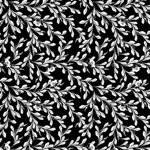 © 2011 - Leaves Flow - white on black