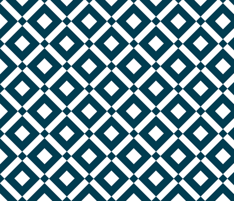 diamond (navy) fabric by amybethunephotography on Spoonflower - custom fabric