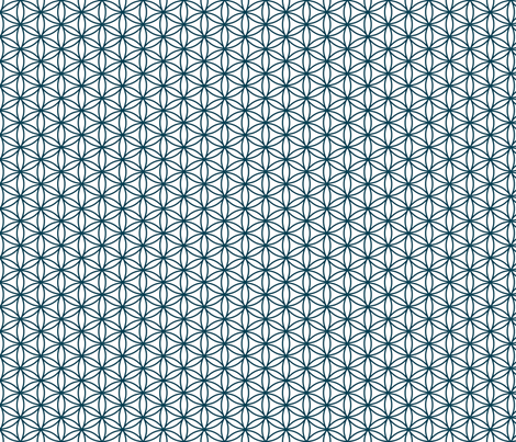 circle of friends (navy) fabric by amybethunephotography on Spoonflower - custom fabric
