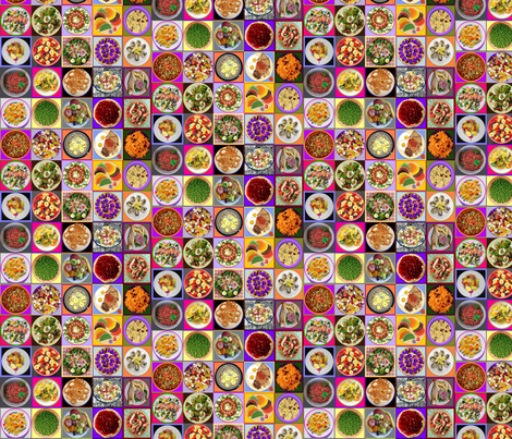 Plates of food fabric by eve_s on Spoonflower - custom fabric