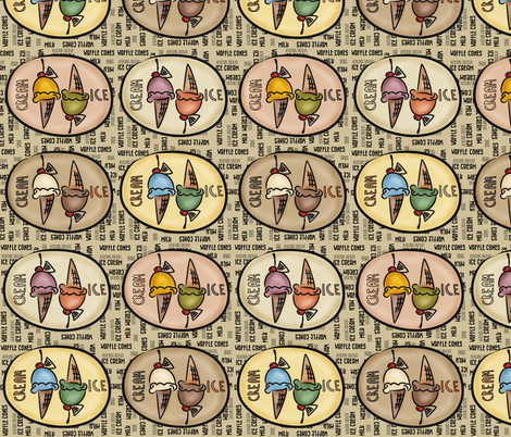 Ice Cream fabric by catru on Spoonflower - custom fabric