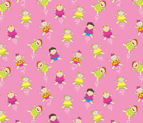 TwirlingBabyGirls fabric by ghennah on Spoonflower - custom fabric