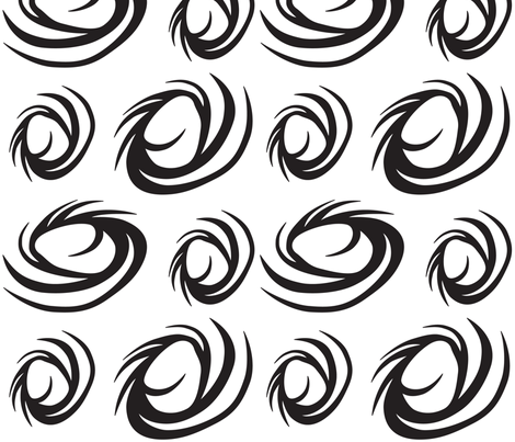 BWSwirls fabric by ghennah on Spoonflower - custom fabric