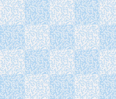 © 2011 Leaves Flow-baby blues fabric by glimmericks on Spoonflower - custom fabric