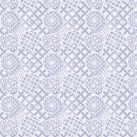 © 2011 Periwinkle Shellgame fabric by glimmericks on Spoonflower - custom fabric