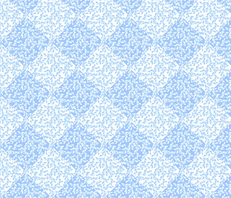 © 2011 Leaves Flow Diagonally - BlueSkies fabric by glimmericks on Spoonflower - custom fabric