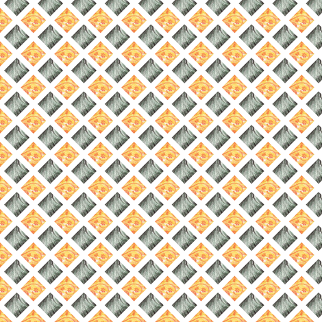 Bantai's Lattice fabric by siya on Spoonflower - custom fabric