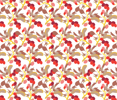 POINTALLISM TWIG summer red fabric by heatherrothstyle on Spoonflower - custom fabric