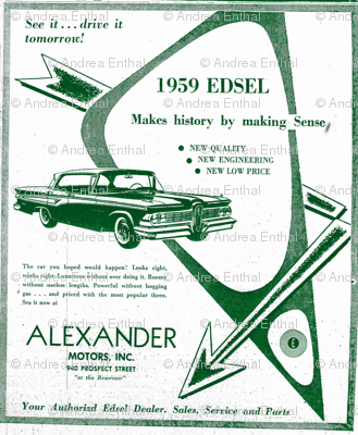 Alexander_Motors_1959 Edsel advertisement half drop