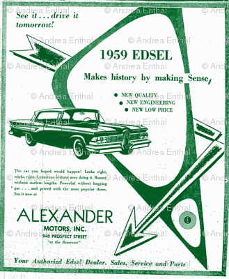 Alexander_Motors_Edsel advertisement from 1959
