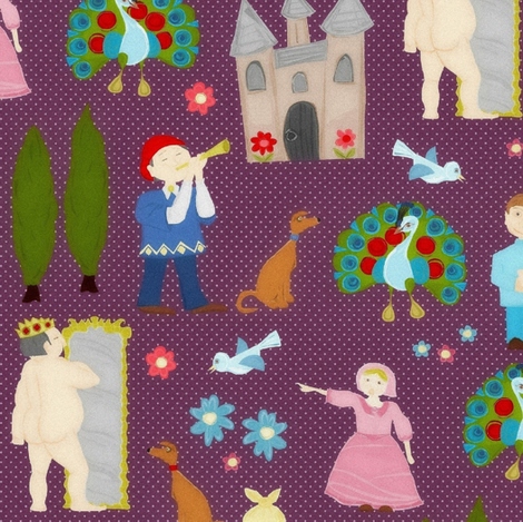 'The Emperor's New Clothes' by Hans Christian Andersen fabric by scrummy on Spoonflower - custom fabric